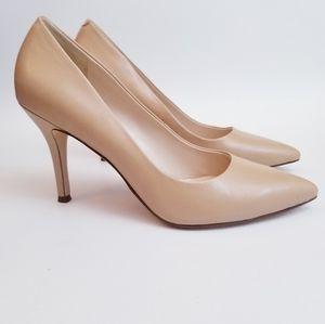 Nine West Flax Nude Heels, Size 8M